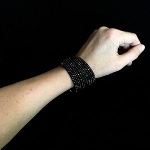 Swarovski black rhinestone wrap bracelet